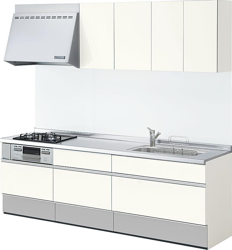 キッチンリフォーム システムキッチン リクシル シエラシリーズ 間口240cm (※食器洗い機なし、キッチンパネルは別途になります。)