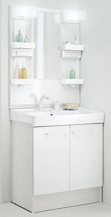 洗面室 洗面化粧台 リクシル オフトシリーズ 間口75cm