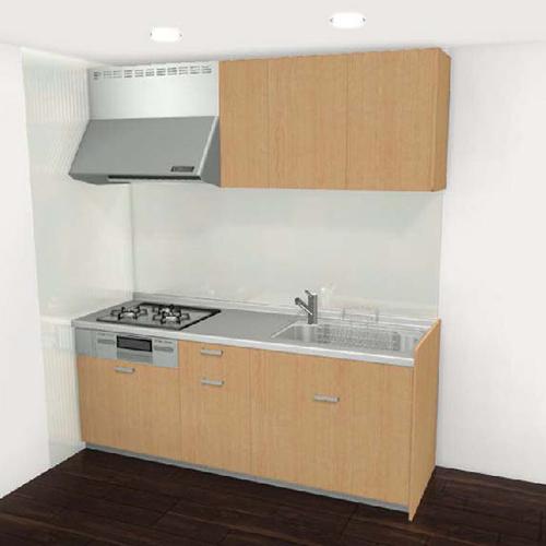 システムキッチン リクシル シエラシリーズ 間口240cm スライドストッカープラン (※食器洗い乾燥機なし、キッチンパネルは別途になります。)